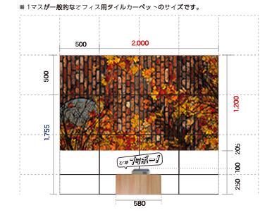 ブラボーマットサイズ図