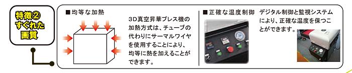 3D真空昇華プレス機特徴2