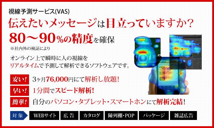 視線予測サービス(VAS)