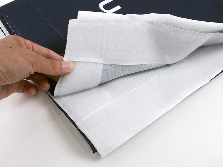 布の裏面はマジックテープ