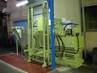 金属切粉プレス機 60トン(搬出コンベヤ付きモデル)