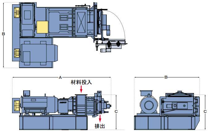 大型RPF成形機の図面