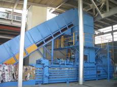 産廃用自動圧縮梱包機 マルチベーラー