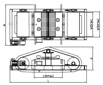 電磁式 吊下げ磁選機の図面