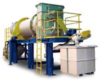 食品残滓・汚泥用ロータリー式乾燥機 ロータリー式乾燥機 100