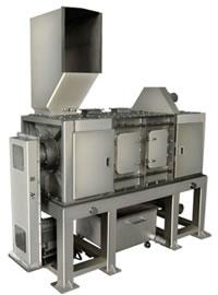 食品残渣付き 廃プラスチック切断洗浄機 1004型