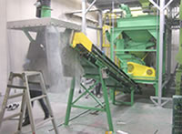 コンクリートガラ粉砕機 ユニットタイプ
