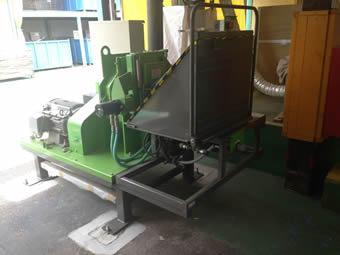 住宅建設資材の加工工場に木材チッパーを納入。木材チップはボイラー燃料として出荷。