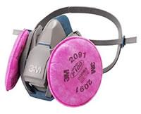 防じんマスク 6500QL/2091-RL3 (ろ過材2091との組み合わせ)