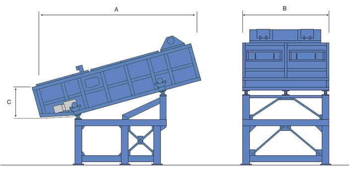 混廃・建廃用 選別機の図面
