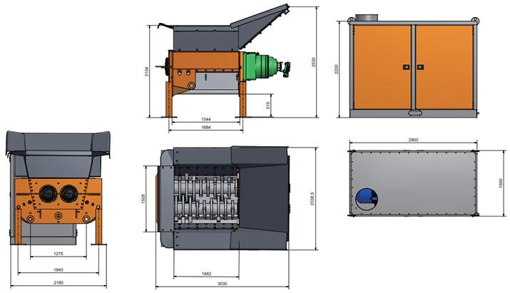 自走式 二軸破砕機 ARJES(アリエス)IMPAKTORシリーズの図面
