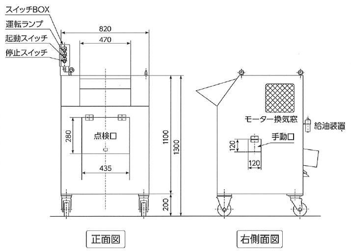 一斗缶・一号缶 連続圧縮装置の図面