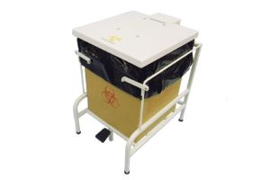 ダンボール型 医療廃棄物容器メディカートンA式40用ホルダーフタ固定タイプ