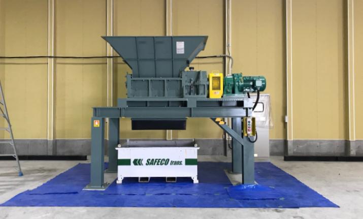 産業廃棄物中間処理業のお客様へ、コストパフォーマンスの高い二軸式破砕機を納入いたしました。