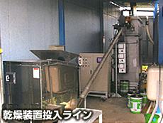 乾燥装置投入ライン