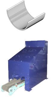 マルチメディア粉砕機のスクリーンと排出コンベア