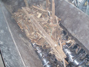建築廃材の破砕時