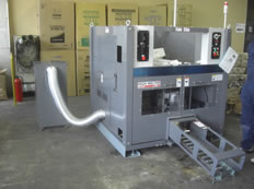 納入事例4・発泡スチロール減容機・50kg/hタイプ