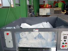 納入事例5・発泡スチロール減容機・50kg/hタイプ