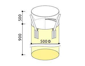 フレキシブル・コンテナバッグ・Aタイプ(300kg)図面