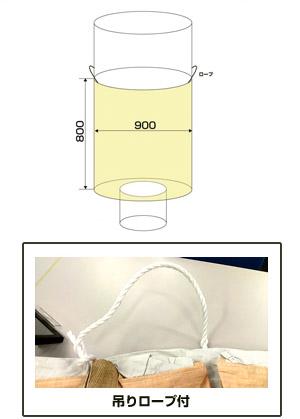フレキシブル・コンテナバッグ・Fタイプ(1000kg)図面
