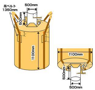 フレキシブル・コンテナバッグ・Eタイプ(500kg)図面