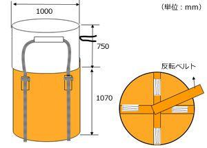 フレキシブル・コンテナバッグ・Aタイプ(500kg)図面