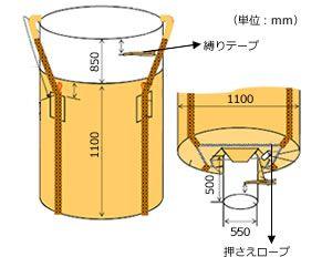フレキシブル・コンテナバッグ・Fタイプ図面