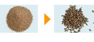有機配合肥料(含水率8.1%) φ6mm(かさ比重0.82)