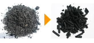 炭(電線被覆材・含水率32%) φ5mm(かさ比重0.66)