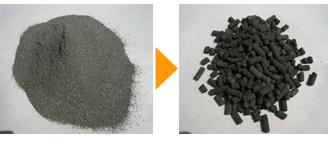 製紙スラッジ(加水30%) φ5mm(保温材)