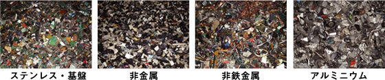 ステンレス・基盤、非金属、非鉄金属、アルミニウム