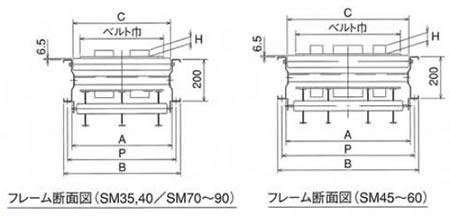 SM平型(段付)