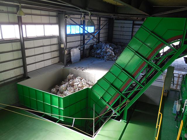 約30立米の投入貯留ホッパを設置