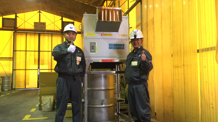 給排水の追加とシャワリング機構で中身入りビンの処理効率をアップ