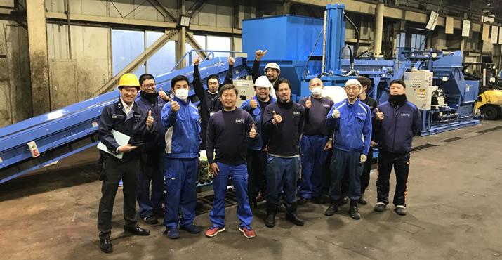 地域のリサイクル需要に貢献するため、飲料容器処理ラインを能力増強